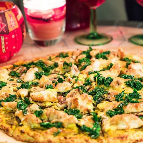 Chicken & Spinach Paleo Pizza
