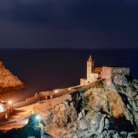 Portovenere by night by Paolo Raffa - Landscapes Waterscapes