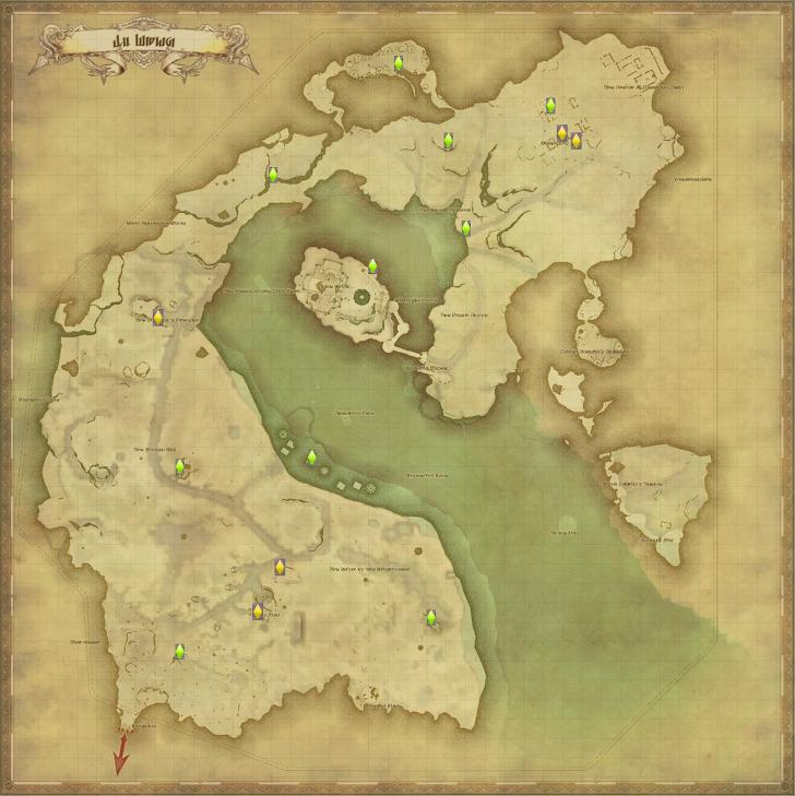 イル・メグ 風脈の泉 地図