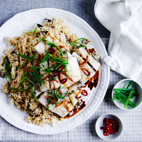 Steamed Barramundi With Shiitake Rice