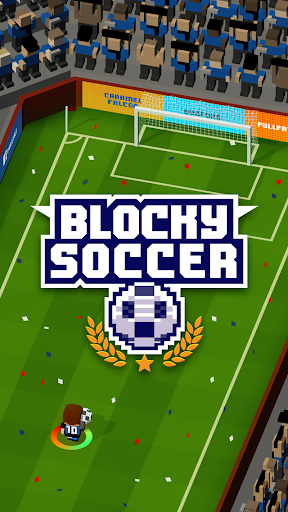 Blocky Soccer screenshot 1