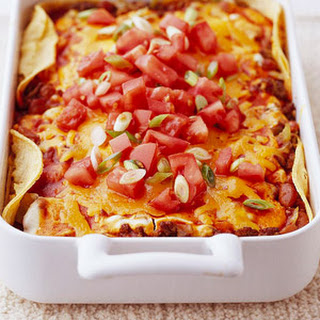 Bean and Beef Enchilada Casserole