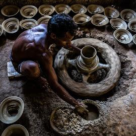 Pottery art by Masud Khan - People Portraits of Men