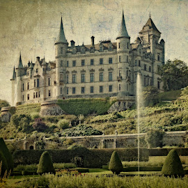 Fairytale Castle by Johannes Oehl - Buildings & Architecture Public & Historical ( uk, sutherland, filthy rich, clan, towers, great britain, rich, dunrobin castle, castle, schottland, garden, fary tale, united kingdom, gb )