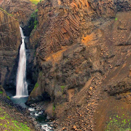 Litlanesfoss, Island by Stanley P. - Landscapes Travel ( travel, waterscapes, landscapes )