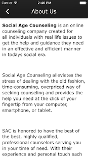 Social Age Counseling - screenshot