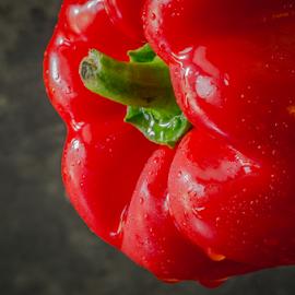 Pepper by Marius Radu - Food & Drink Fruits & Vegetables ( raw food, red, peper, vegetable, food )