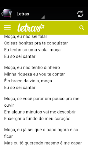 android Eduardo Costa Musica & Letras Screenshot 2