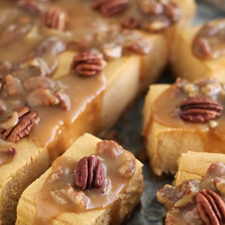 Sweet Potato Pecan Praline Cheesecake Bars Recipe | Yummly