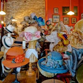 Hats Off! by Barbara Brock - Artistic Objects Clothing & Accessories ( millinery, many hats, women's headwear, ladies hats, fancy hats, ladies bonnets, hat,  )