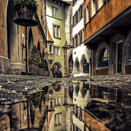 Medieval Times by Jessica Meckmann - Instagram & Mobile iPhone ( reflection, switzerland, zug, iphone )