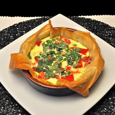 Pimiento, Goat Cheese Custard Tart