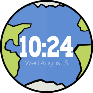 Earth & Moon Wear Watch Face - screenshot