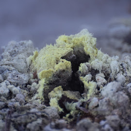 Sulphur by Nathan Hannam - Abstract Macro ( geology, sulphur, geothermal, nz, new z )