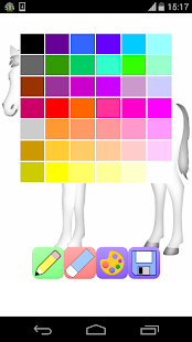 horse coloring games - screenshot