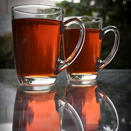 Afternoon Tea! by Reem Albakary - Food & Drink Alcohol & Drinks ( reflection, nature, drink, tea cup, tea )