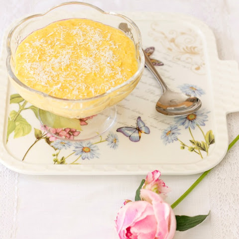 Sweet Corn and Coconut Pudding