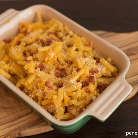 Baked Macaroni & Cheese With Crumbled Bacon