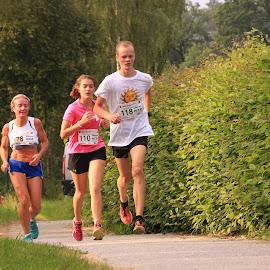 City Running in Zwettl 5 by Franz  Adolf - Sports & Fitness Running ( girls, sports, running )