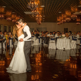 First Dance by Matthew Chambers - Wedding Bride & Groom ( texas photographer, austin, dancing, texas, beautiful, wedding photos, matthew chambers photography, austin wedding photographer, love, kiss, driftwood, wedding, wedding photographer, bride and groom, bride, groom )