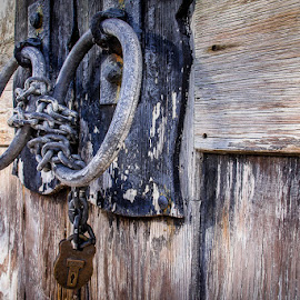 by Jan Irons - Buildings & Architecture Architectural Detail ( barn, lock, door )