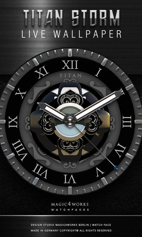 HD Analog Clock Bundle LWP 4 Screenshot 3