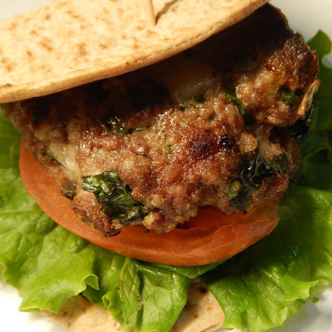 Spinach And Asiago Beef Burgers