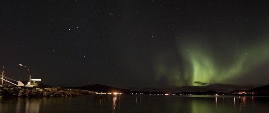 aurora boreoalis by Benny Høynes - Landscapes Starscapes ( northernlight, aurora, boreoalis, maurnes, sortland )