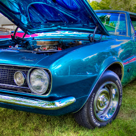Blue Camaro by Robert George - Transportation Automobiles