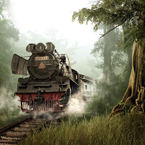 old train by Budi Cc-line - Transportation Trains ( train )