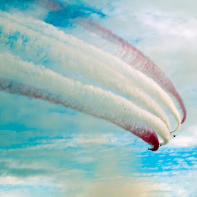 red arrows  by Mark Shepherdson - Transportation Airplanes