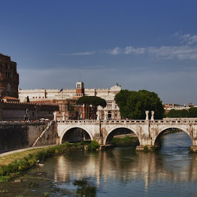 Castello St.Angelo by Morten Gustavsen - Buildings & Architecture Bridges & Suspended Structures ( roma, hdr, st angelo )