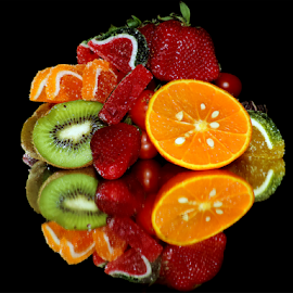 fruits with the candys by LADOCKi Elvira - Food & Drink Fruits & Vegetables ( candys, fruits )