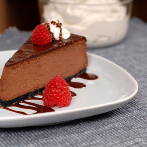 Chocolate-Frosted Cheesecake
