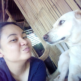 Her face though haha by Adoracion Bautista - Uncategorized All Uncategorized ( kiss, dogs,  )