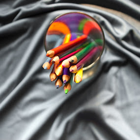 colorful pencil by Infected Gallery - Products & Objects Education Objects ( holder, top view, colorful, color pencil, artistic objects, pencils )