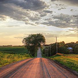 Golden Sundown~ by Karen McKenzie McAdoo - Landscapes Prairies, Meadows & Fields