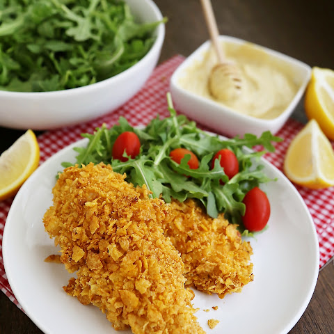Crispy Honey-Dijon Baked Chicken Tenders
