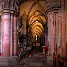Corridor of Light by Phil Robson - Buildings & Architecture Places of Worship ( northumberland, church, hexham, hexham abbey, perspective )