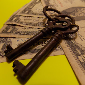 Old Money by Jeannie Love - Artistic Objects Antiques ( keys, money, objects, currency, antiques )