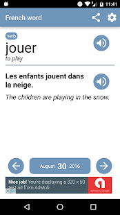 French word of the day - screenshot