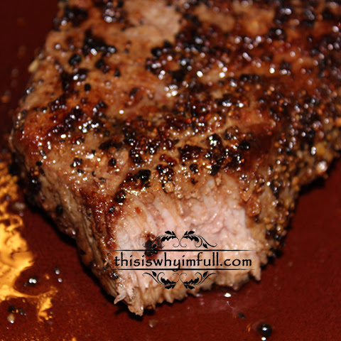Black Pepper Crusted Steak