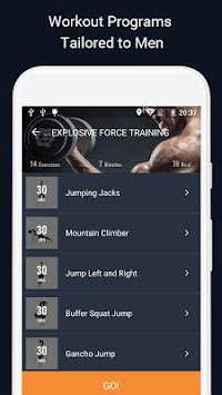 ManFIT - Workout At Home With No Fitness Equipment APK screenshot thumbnail 4