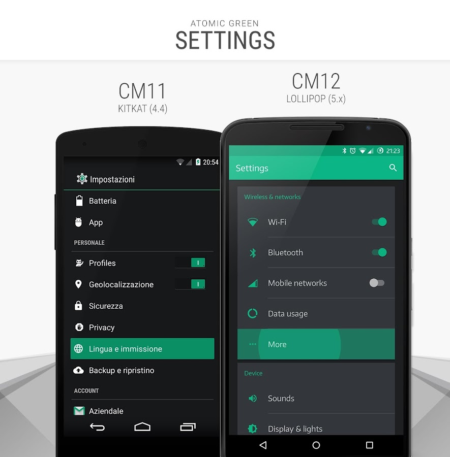 Atomic Green - CM12 CM13 Theme Screenshot 0