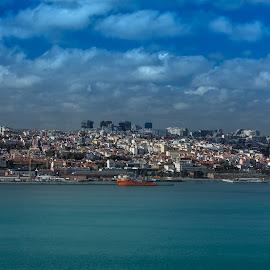 Lisboa by Adriano Freire - City,  Street & Park  Vistas ( tejo, rio, céu, vista, lisboa )