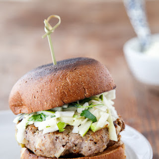 Rosemary-Apple Chicken Burgers + Slaw
