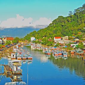 Parking by Mohd Khairil Hisham Mohd Ashaari - Transportation Boats ( harbour, boats, traditional, landscape,  )