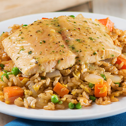 Simply Bake Salmon with Veggie Fried Rice