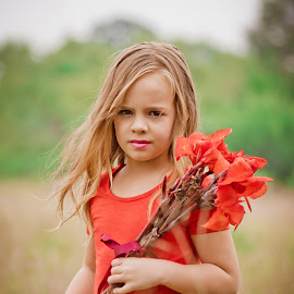 Laney by Hein Le Roux - Babies & Children Child Portraits ( model, blonde, red, girl, flowers, hair )