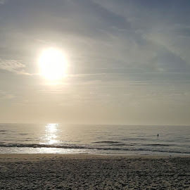 Early Morning Creation by Melissa Osborne - Landscapes Beaches ( water, carolina beach, surfing, ocean, sunrise, beach )